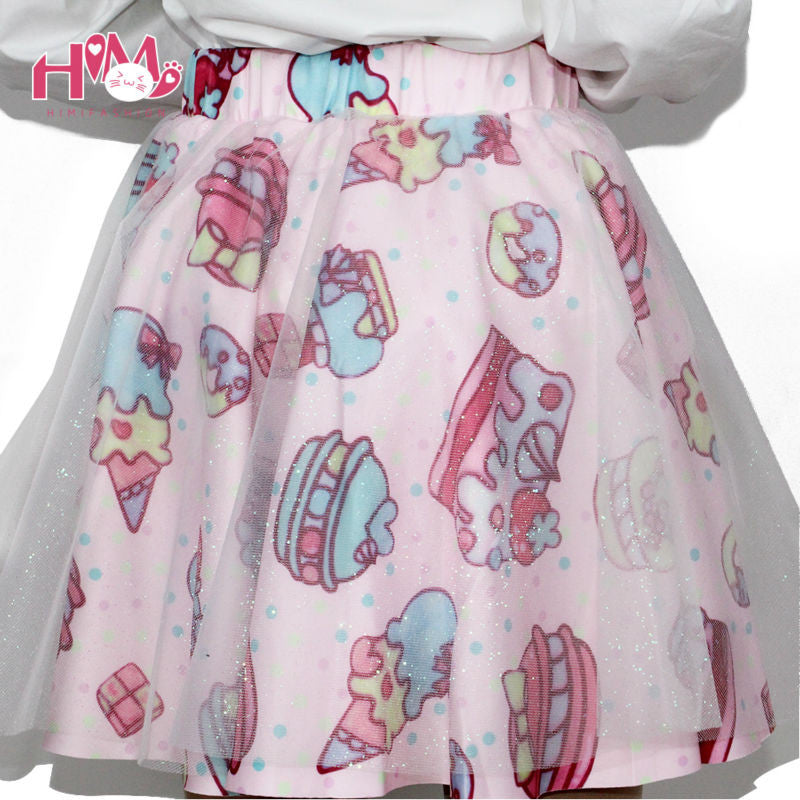 Soft Sister Lolita Short Skirts Japan Fashion Lady Tutu Skirt CakeStrawberry Cute High Waist Girls