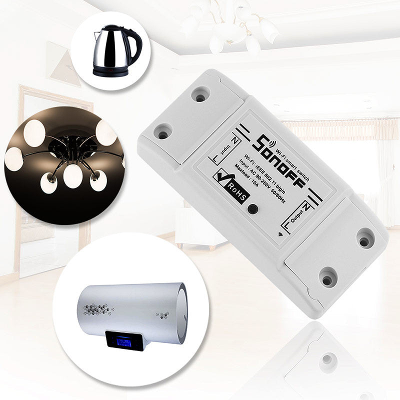 Sonoff Smart Wifi Switch Smart Home WiFi Module Wireless Remote Control Timer Diy Switch Sonoff S20 Smart Socket Via Ios Android