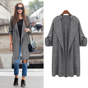 Spring Autumn Trench Coat For Women Trenchcoat Womens Trench Coats Long 2016 Wide Lapels Outerwear Slim Open Stitch
