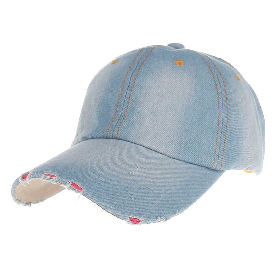 Summer Women Baseball Caps Jean Hat Casual girl Denim Baseball Cap Sun  Jeans hats girl gorras b8b911b2c99
