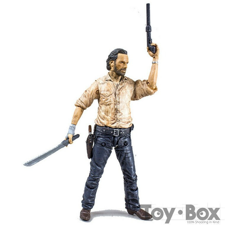 TV Series The Walking Dead Rick Grimes Andrew Lincoln 12cm Toy PVC Action Figure Model Gift