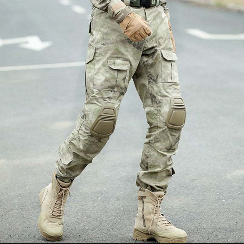 en soldes b1829 18514 Tactical Camouflage Pants Cargo Pants Men Pantalon Homme Sweatpants US Army  Delta Forces Hunter Combat Pants with Knee Pads
