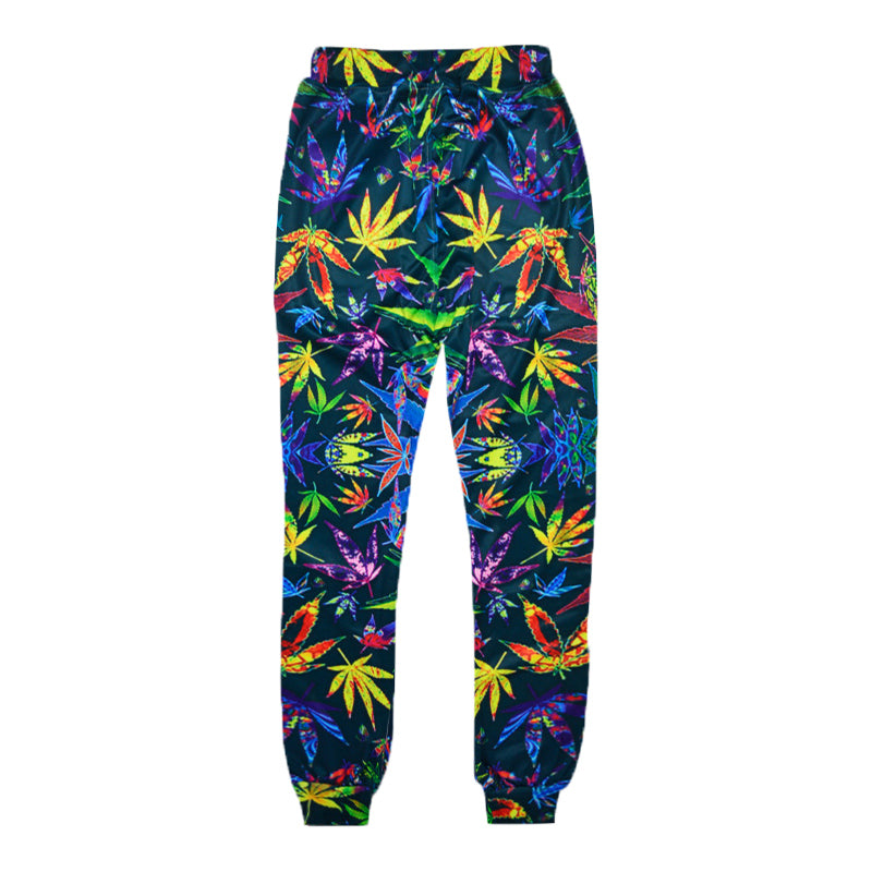 The New Fashion 3D Pants Classic Multi-color Weed Leaf Printing Men's Casual Spring And Hip Hip-hop Style Joggers Pants