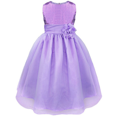 abf14e997 TiaoBug Elegant Sequin Flower Girl Dresses Princess Party Pageant Formal  Attire Kids Prom Gown First Communion