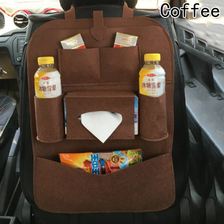 Car Backseat Bag High-grade Blankets Seat Back Storage Organizer Travel Stowing Tidying Bags Car Interior Accessories