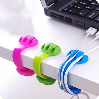1PC! Cable Organizer Finishing The Desktop Plug Wire Retention Clips Snap Hub Power Cord Winder Cable Management Device  UpCube- upcube