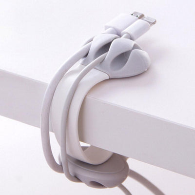 1PC Cable Organizer Finishing The Desktop Plug Wire Retention Clips Snap Hub Power Cord Winder Cable Management Device  UpCube- upcube