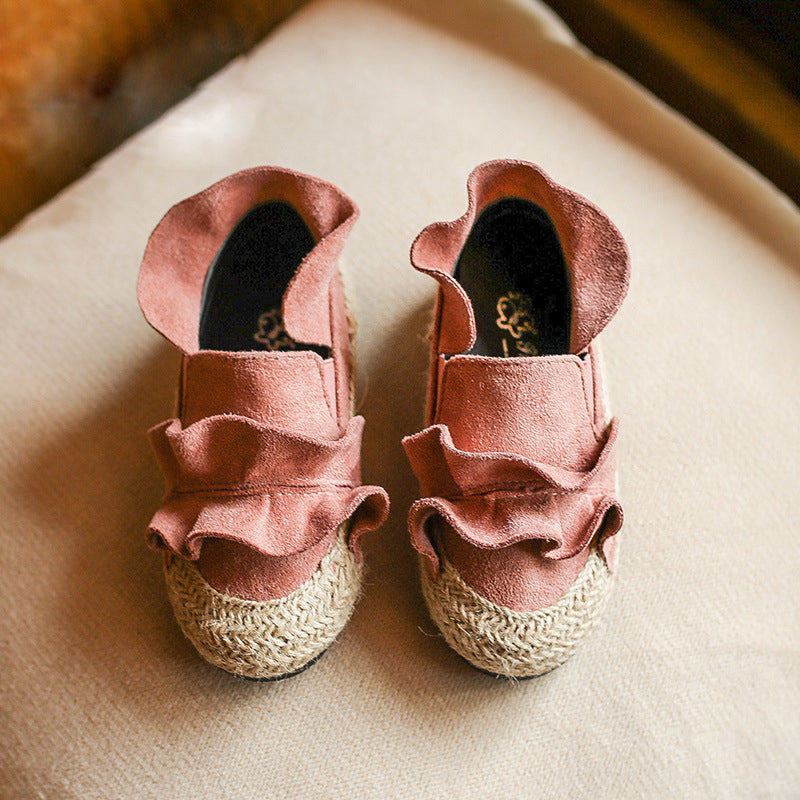 Fashion Children Shoes Flower Lace Autumn Baby Girls Shoes Loafers Slip On Casual Shoes Breathable Kids Shoes Toddler Sneakers