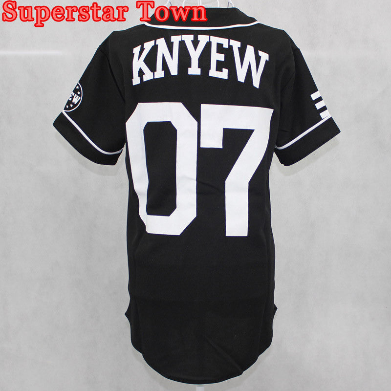 2494497a Vintage Fashion Unisex Hip Hop Allover T-Shirt Baseball Jersey New come  Peplum tops Black