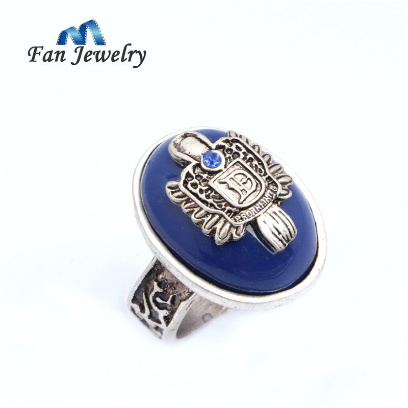 Wholesale Movies Jewelry  Vintage Silver plated The Vampire Diaries Damon  Ring  Fan Gift Movies Jewelry 008JZ