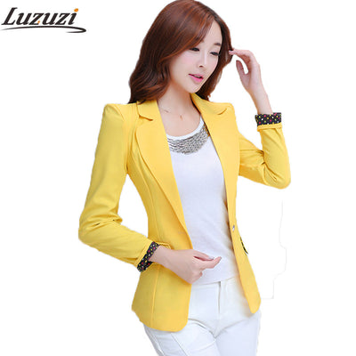 5606fad463a5 Women Blazers Candy Color Long Sleeve Female Blazer Suit Suit Jackets  Blaser Coat blazer feminino manga longa 2017 WS304
