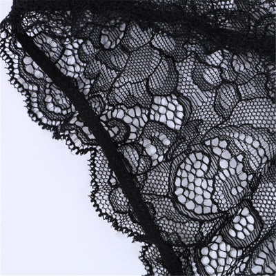 d7fa4ca2d89 Women Sexy Lingerie Set Embroidery Floral lace Sheer Thongs Panty Lingerie  Underwear Bra Set