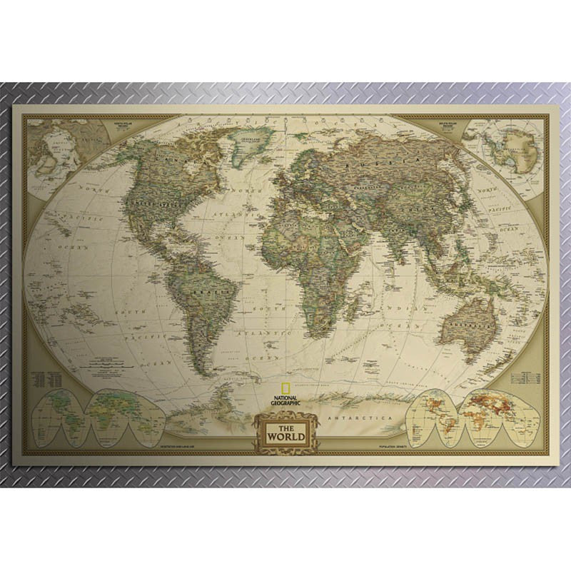 Vintage Maps UpCube - Retro world map poster