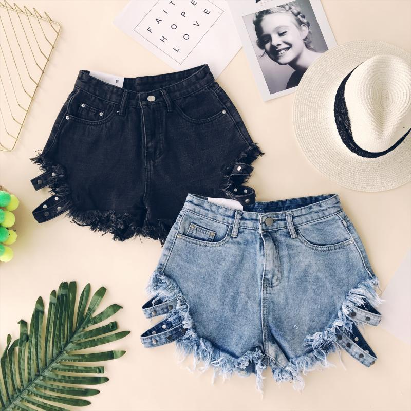 VINNYE DENIM BELT SHORTS