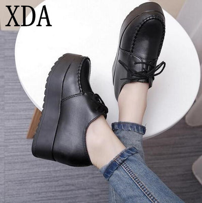 XDA 2017 new Creepers Platform Shoes Woman Flats Shoes Female Creepers Shoes Footwear Women Shoes free shipping S722