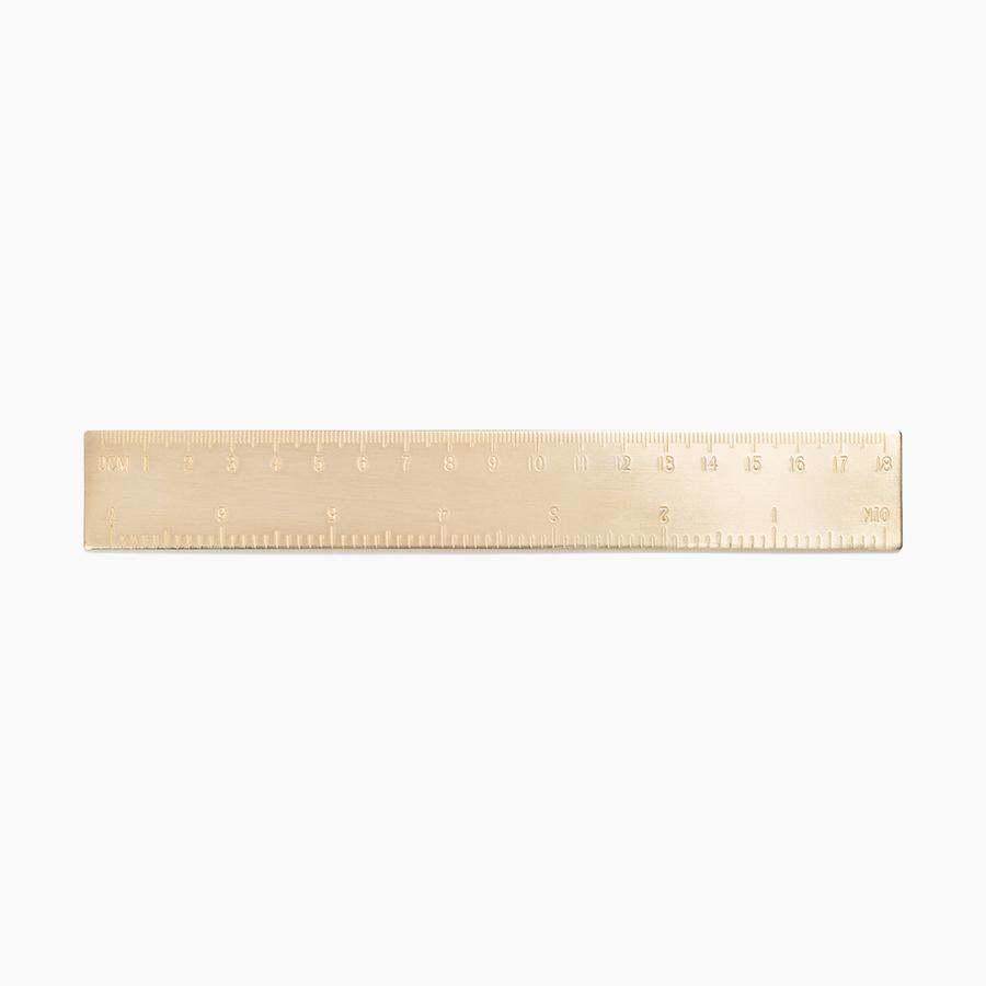 #10164 Solid Brass Ruler - upcube