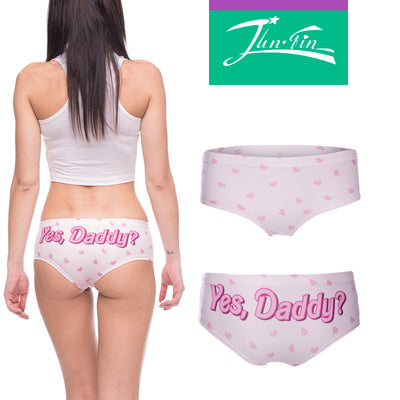 46ce27806 daddy good girl Sexy Panties 2016 hot sale 3D Printed womens underwear  lingerie femme braguitas mujer