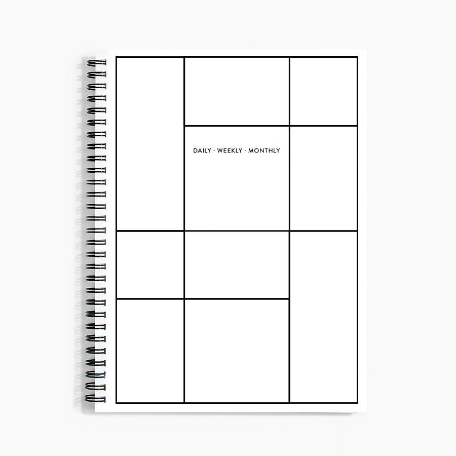 #10523 Daily Weekly Monthly Planner in Linework - upcube