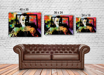 Canvas Wall Art - Leonardo Dicaprio - Wolf of Wall Street - Money Talks original - Ready to Hang High Quality Canvas  dailytechstudios- upcube