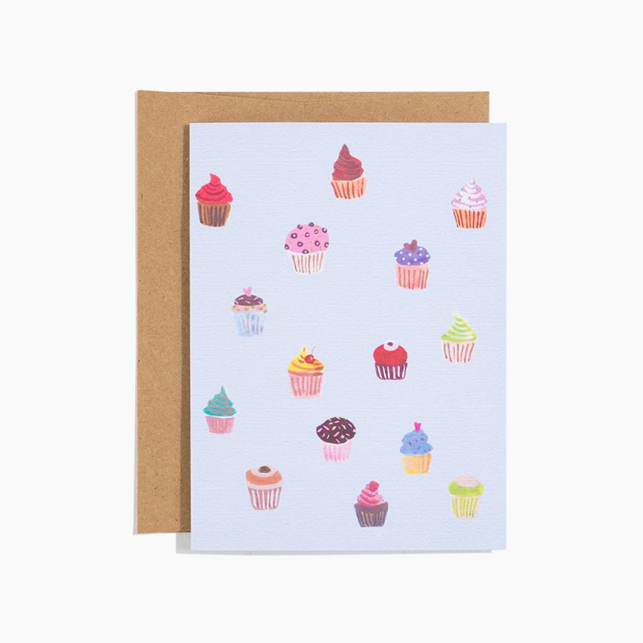 #10167 Cupcakes Card - upcube
