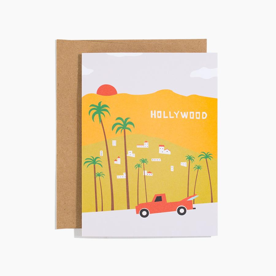 #10179 Hollywood Sign Card - upcube