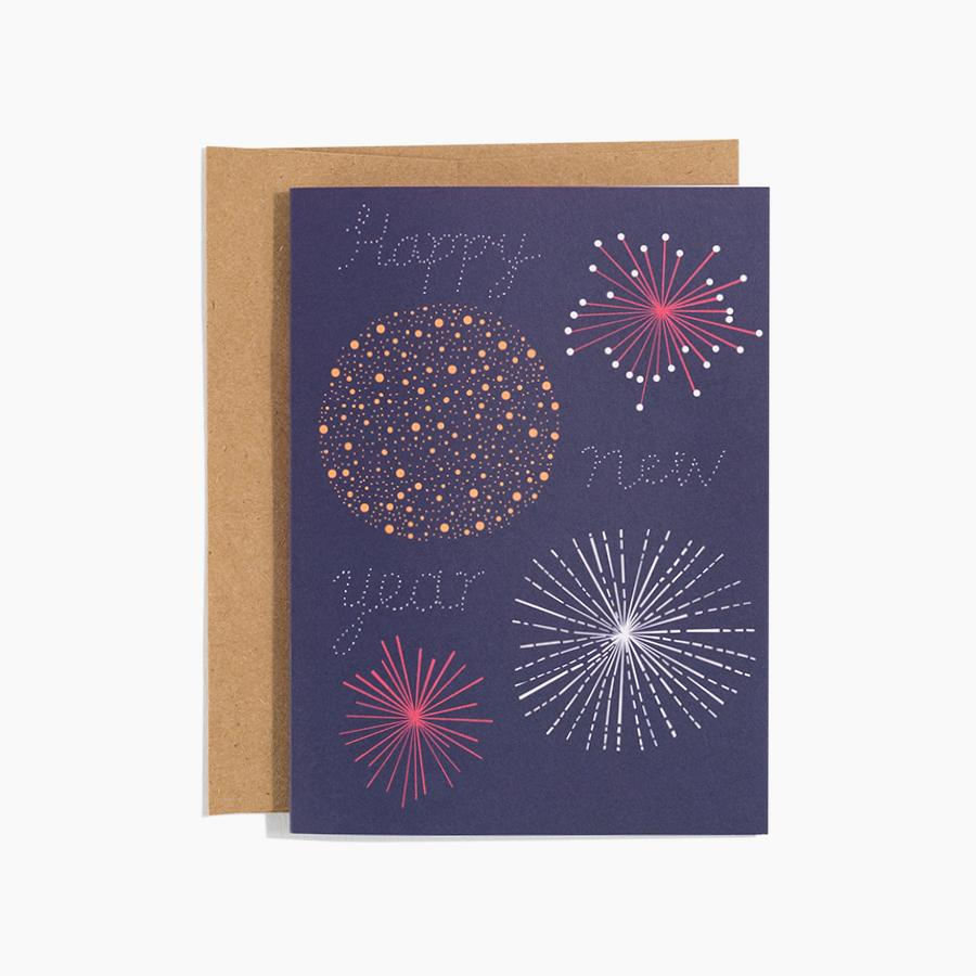 #10171 Fireworks Happy New Year Card - upcube