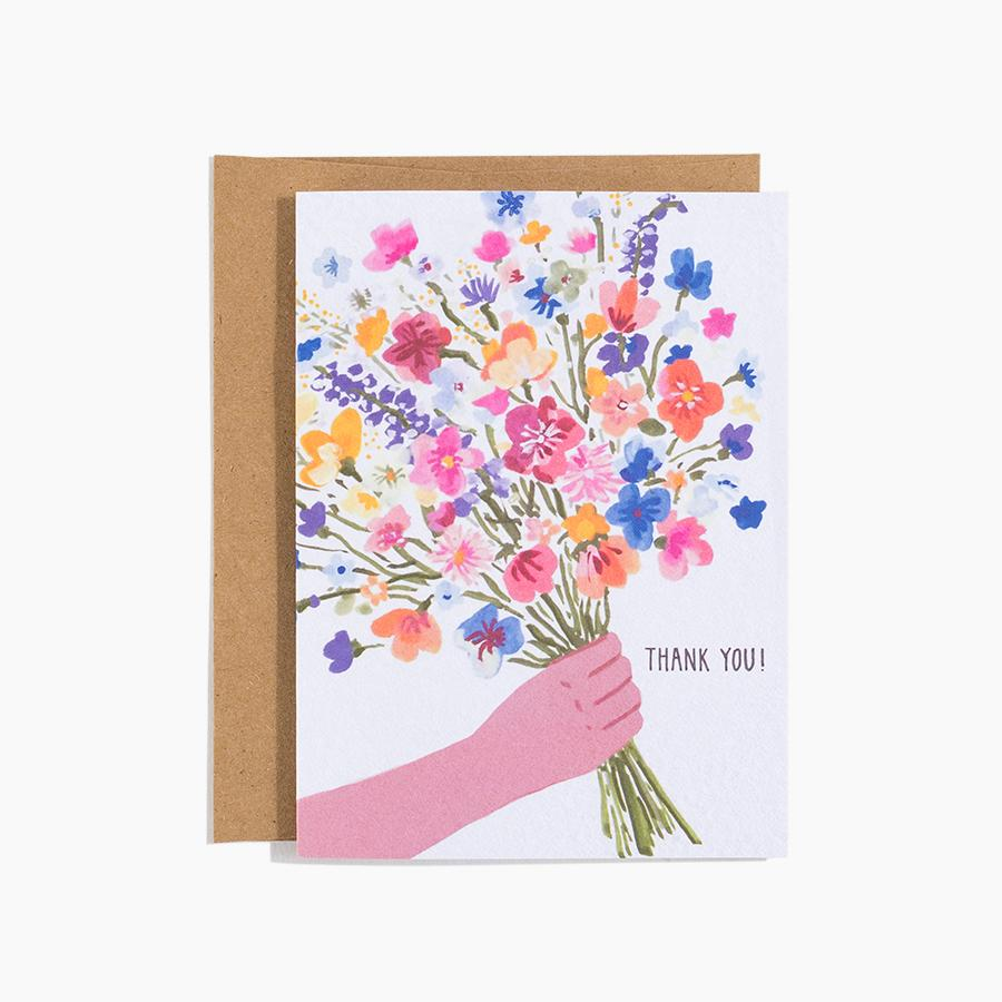 #10180 Thank You Bouquet Card - upcube