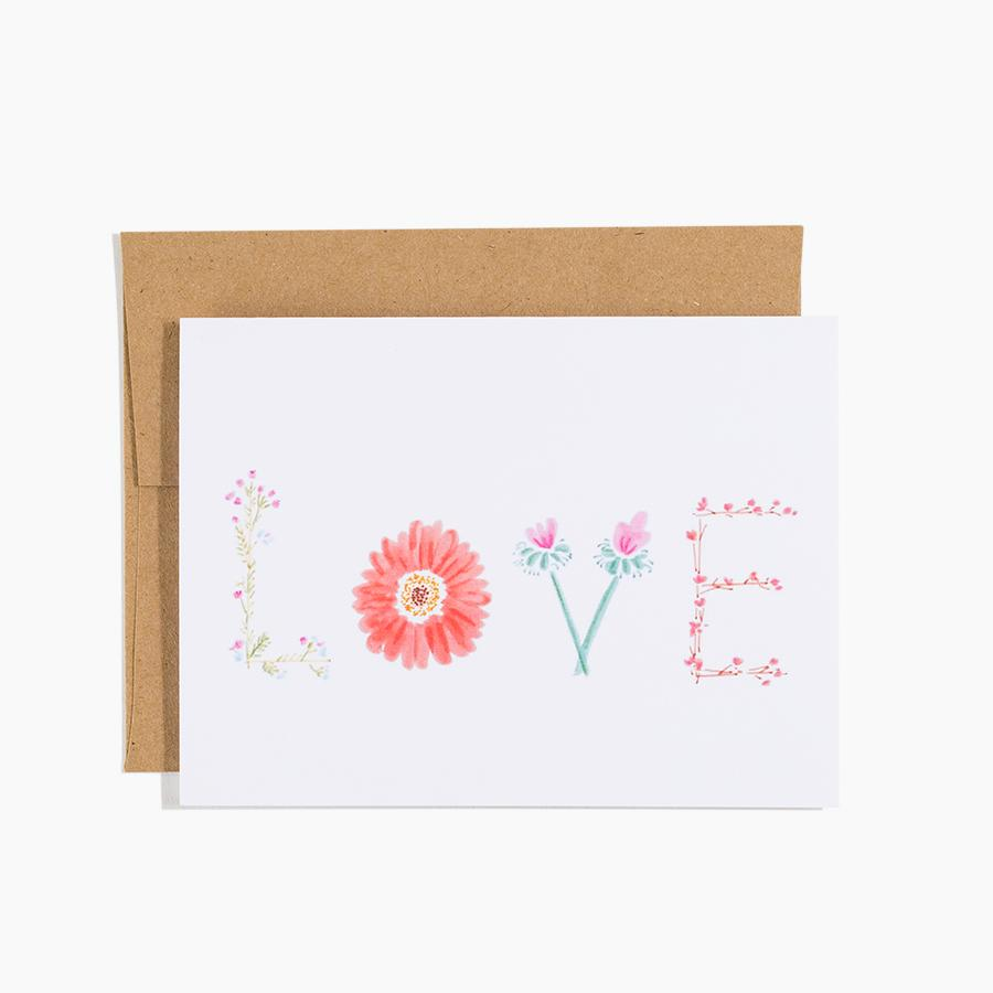 #10174 Flowers LOVE Card - upcube