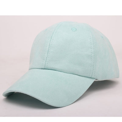 """metting joura""Pure color faux suede baseball cap can be adjusted Men's and women's leisure  hats accessories - upcube"