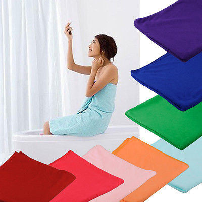 Hot Selling 70x140cm Absorbent Microfiber Beach Bath Towel Drying Washcloth Swimwear Daily Free Shipping