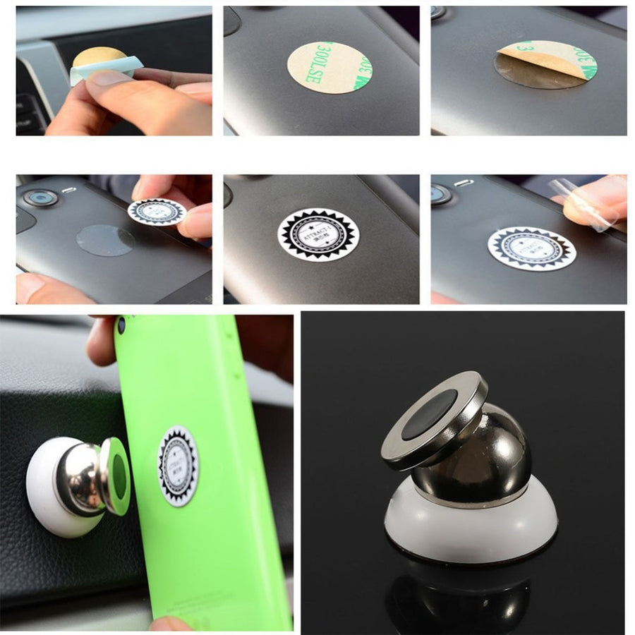 360 degrees magnetic car phone holder stand for iphone 6 plus 5S 4S magnetic holder For mobile phone in car support Car DVR GPS  dailytechstudios- upcube