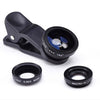 Universal Clip 3in1 Fisheye Lens + Wide Angle + Macro Lens Mobile Phone Lens photo Kit Set for iPhone 6 4 4S 5 5S Samsung S4