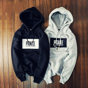 2015 Winter Brand Cloting High Street PIGALLE Hoodies 3D Embroidery Fleece Lining Sweatshirt  Hoody Sportswear Box Long Tee