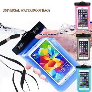 100% Waterproof Bag Pouch Mobile Phone Case For Apple iPhone 6 6S 7 Plus 5S 5c SE 4 Samsung S5 S6 S7 Edge Note5 LG Google HTC