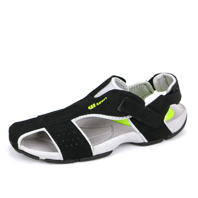 Casual Sandals Mens Toes Preventing Mens Leather Sandals Sport Close Toe Sandals  dailytechstudios- upcube