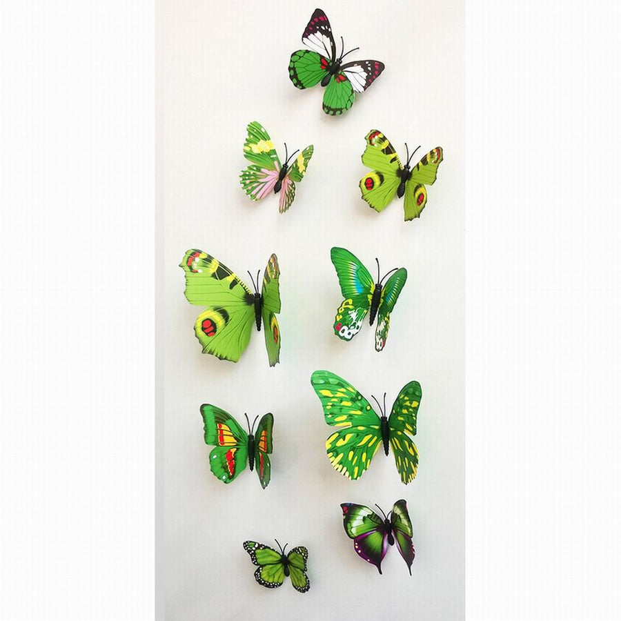 3D Butterfly Wall Decals Multicolor PVC Wall Stickers For TV Wall Kids Bedroom Wall Home house Decoration New fashion