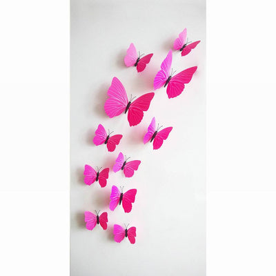 3D Butterfly Wall Decals Multicolor PVC Wall Stickers For TV Wall Kids Bedroom Wall Home house Decoration New fashion  dailytechstudios- upcube