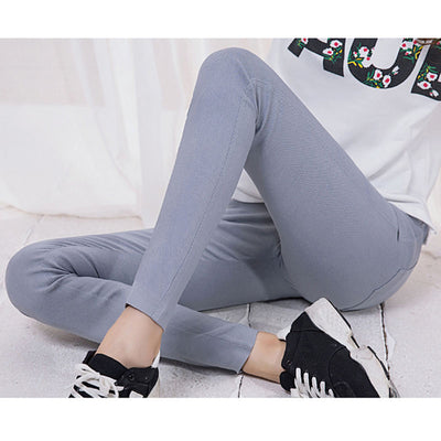 Drop Shipping Colored Stretch Fashion Female Candy Colored Pencil Women's Pants Elastic Cotton Pants OL Slim Trousers Size S-3XL