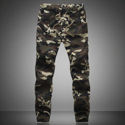 2016 HOT Dnine autumn army fashion hanging crotch jogger pants patchwork harem pants men crotch big Camouflage pants trousers  dailytechstudios- upcube