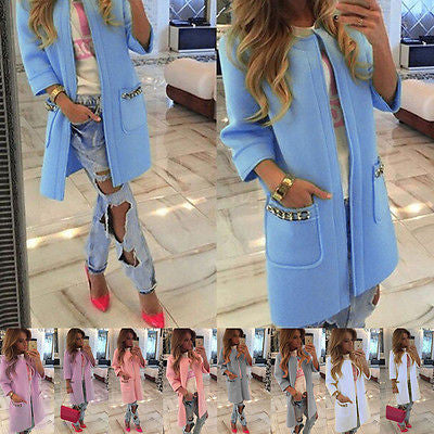 2016 New Brand Women's Long Sleeve Knitted Cardigan Loose Sweater Outwear Coat lady fashion Winter Trench 5 Colors  dailytechstudios- upcube