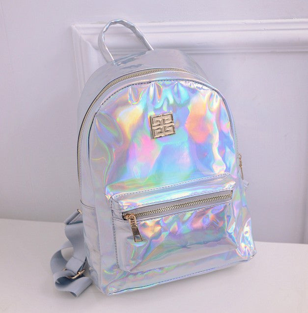 2016 Summer New Fashion Hologram Laser Backpack Female Student PU Leisure Travel Backpack Casual Multicolor Bag For School Girls  dailytechstudios- upcube