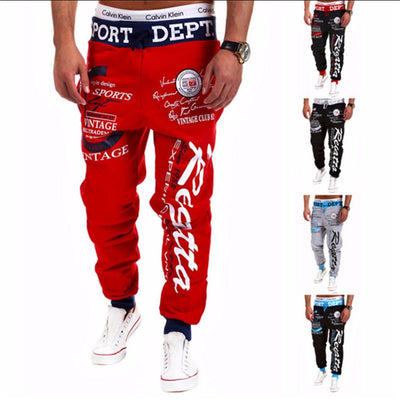 Trousers 2016 Hot Sale Baggy Mens Letter Printing Baggy Harem Cool Long Pants Joggers Wear 21 Styles Plus Size M-XXXL Drawstring