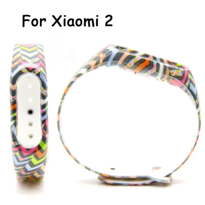 FOONBE For Xiaomi Mi Band 2 Camouflage Replacement Strap For Xiaomi 2 Smart Wristband Silicone Strap Belt for Miband 2 Bracelet