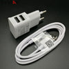 2 in 1 5V 2A USB charger Dual USB EU Plug Wall Charger + micro USB cable for Samsung galaxy S3 I9300 note 3 note4 mobile phone  dailytechstudios- upcube