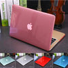 NEW Crystal\Matte Transparent case For Apple macbook Air Pro Retina 11 12 13 15 laptop bag for macbook Air 13 case cover +gift