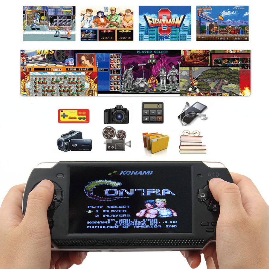 32 Bit 4.3 Inch Handheld Game Player Game Console 4G MP5 Game Player 3.0MP Camera 100 Kinds Games Russia 1000mAh Battery