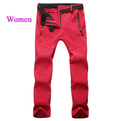 Men Women Winter Warm Softshell Casual Pants Windproof Waterproof Men's Thick Trousers Ladies Tech Fleece  Zipper Pants,UA218