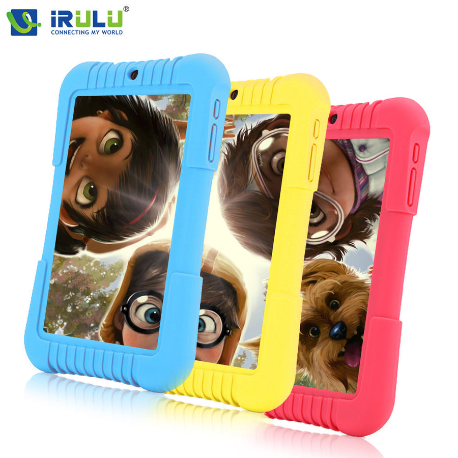 "2016 Original iRULU Y3 7"" Babypad 1280*800 IPS A33 Quad Core Android 5.1 Tablet PC 1G/16G Silicone Case for children Candy Color"