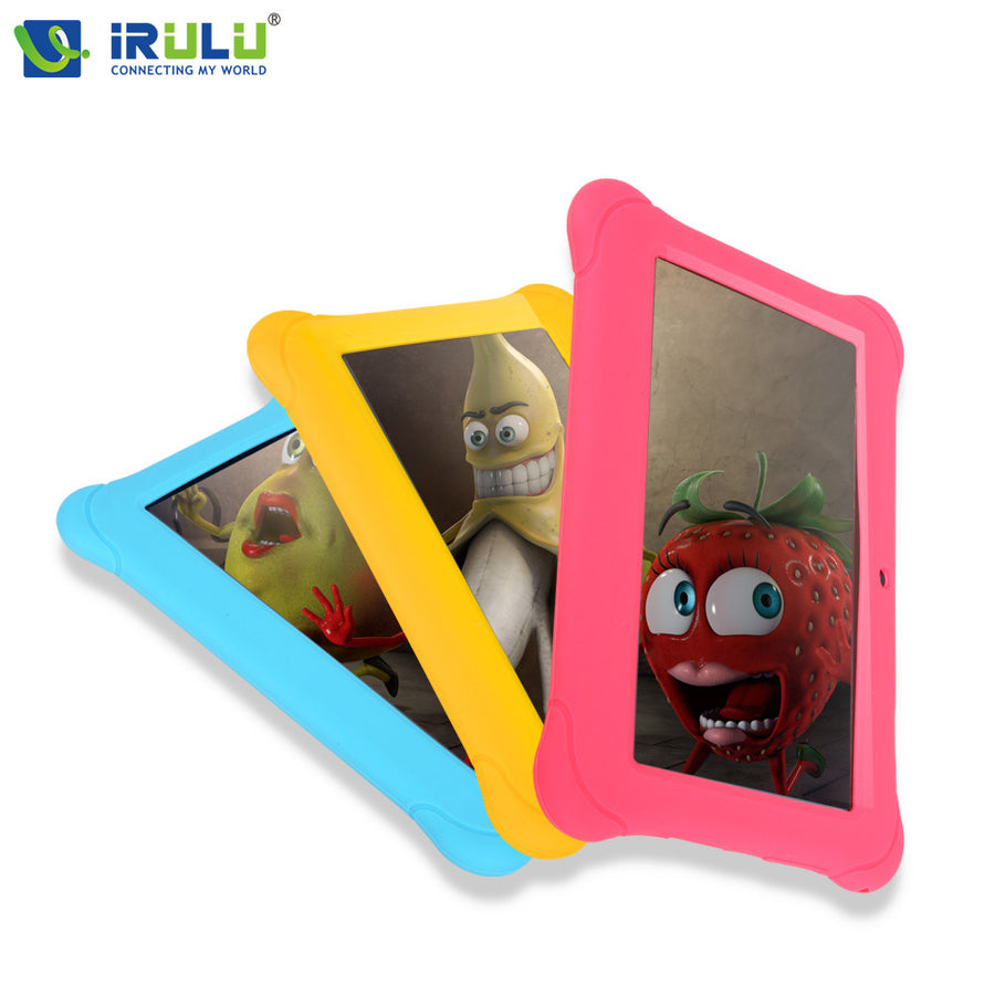 iRULU BabyPad Y1 7'' Tablet PC Kids Children Tablet Android 4.4 Quad Core Dual Cam Google 1G RAM 8G ROM Free Silicone Case