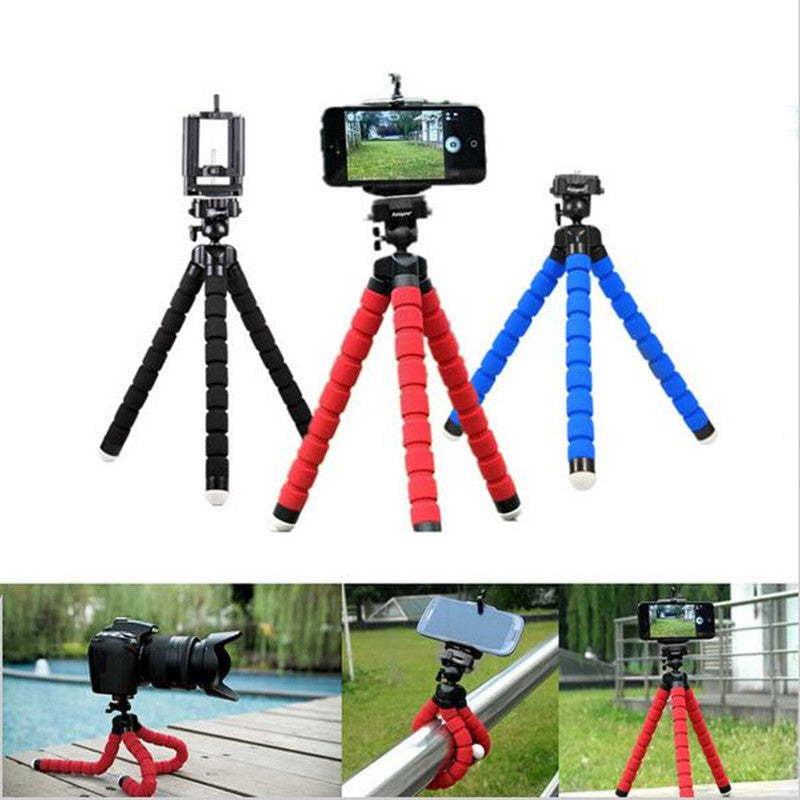 New Flexible Octopus Tripod Bracket Selfie Stand Mount With Holder Monopod Styling Accessories For Phone Gopro Camera iPhone 6 7